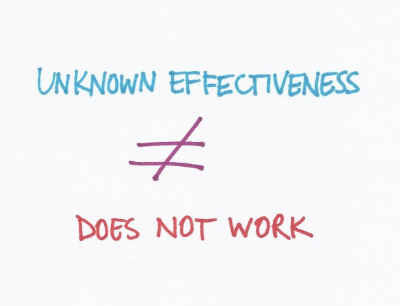 Unknown effectiveness relationship 1